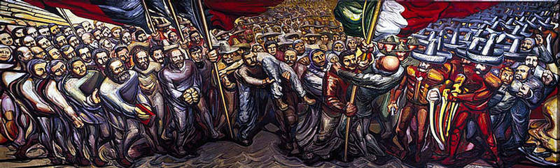 Discurso visual bandera mexicana e iconograf a for Definicion de pintura mural